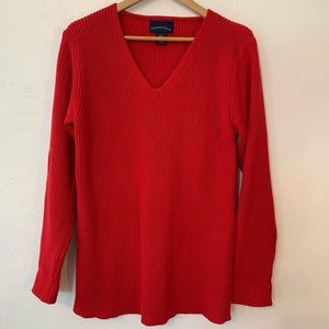 CHARTER CLUB Ribbed knit red sweater Size XL